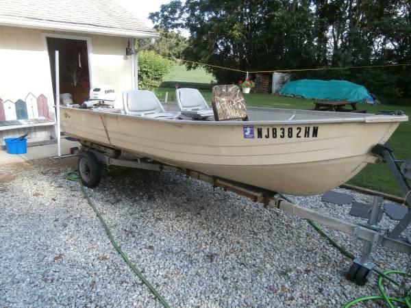 Photo 14 FT Boat -Motor -Trailer-Fish Finder - $800