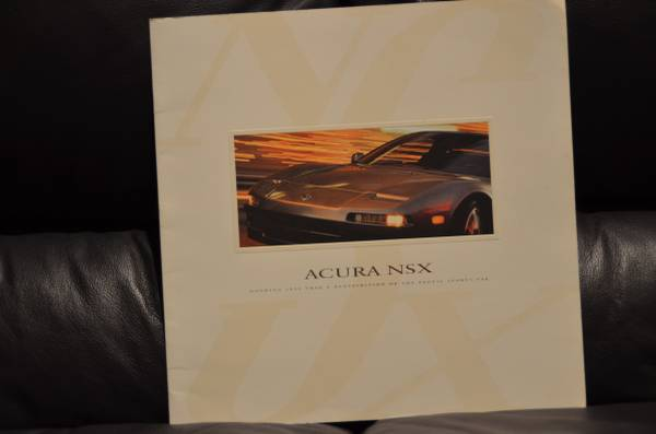 Photo 1997 Acura NSX Sales Brochure - $30 (Turnersville)