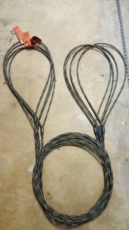 Photo 4 wire lifting cables 38 x 18 foot long - $70 (Runnemede)