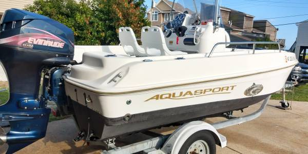 Photo Aquasport Tournament Cat 161 series fishing boat w trailer for sale (litle egg harbor)