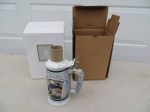 Photo Avon Tribute To Rescue Workers Collectible Beer Stein - $10 (MULLICA HILL)