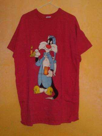 Photo Brand New Looney Tunes Sylvester The Cat Women39s Shirt - $10 (VOORHEES)