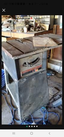 Photo Craftsman 9- inch Motorized Table Saw 1969 WORKS w manual - $100 (Vineland)