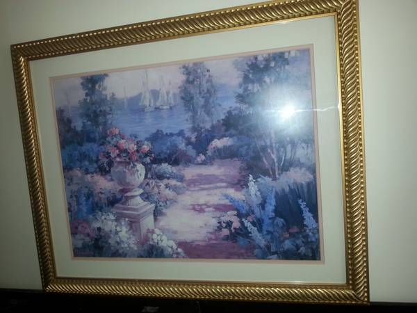 Photo Framed Print of Garden and Sail Boats - $85 (Sewell NJ)