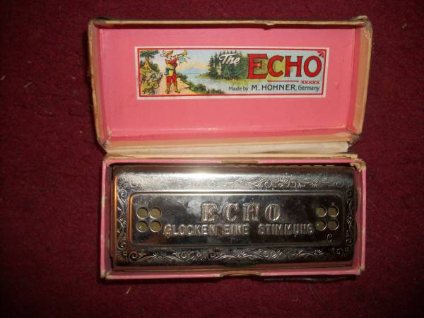 Photo HOHNER ECHO HARP(HARMONICA) 5464 MADE IN GERMANY, 5 INCHES LONG - $35 (Oak Valley, N.J.)