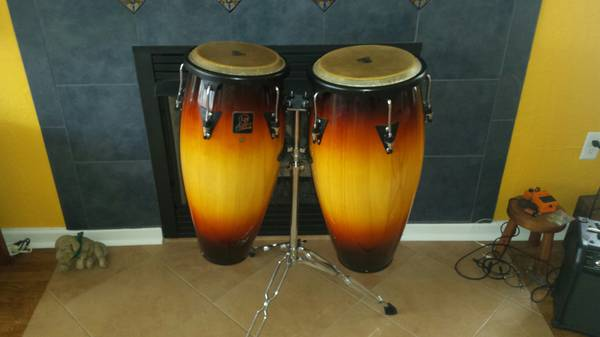 Photo LP Aspire Congas Like New With Stand Save $$$ - $275 (Ocean City)