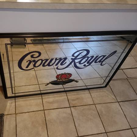Photo Large Crown Royal Whiskey Mirror 52quot - $300 (Browns Mills)