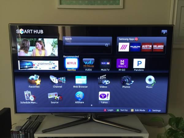 Photo SAMSUNG 46quot LED HDTV SMART TV - $195 (Runnemede , NJ)