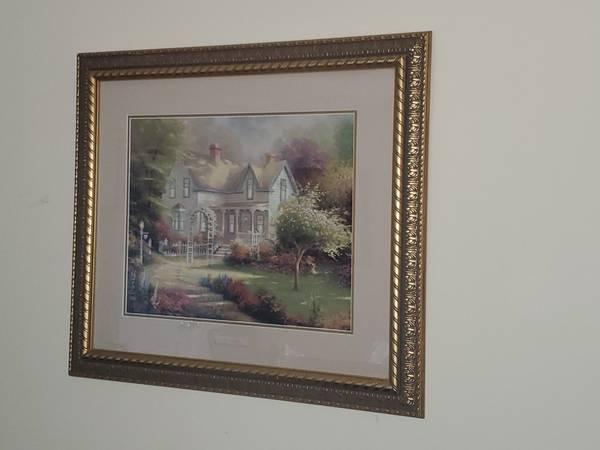 Photo Thomas Kinkade Home is where a the Heart is - $400 (Sewell)
