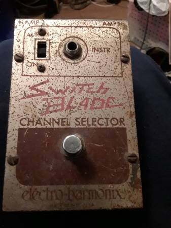 Photo Vintage electro harmomix switch blade guitar  pedal - $20 (HADDONFIELD)