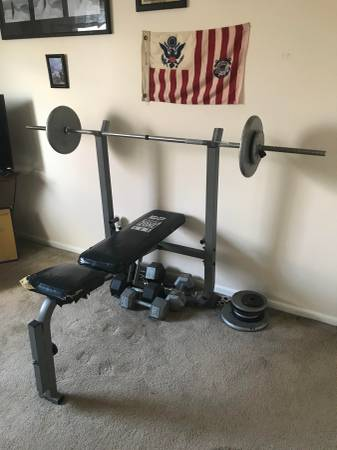 Photo Weight Set  Bench Press - $100 (Mullica Hill)
