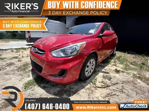 Photo $143mo - 2017 Hyundai Accent SE - 100 Approved - $143 (7202 E Colonial Dr, Orlando FL, 32807)