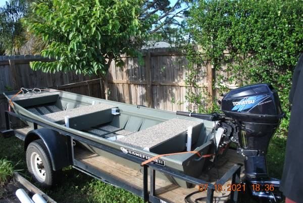 Photo 14 ft jon boat and motor - $3,100 (port st john)