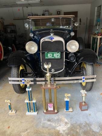 Photo 1930 Ford Model A 2 Door Deluxe Phaeton Convertible - $35000 (Merritt Island)