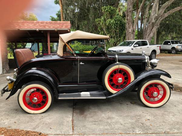 Photo 1930 Ford Model A 2 Door Deluxe Roadster Convertible. - $20000 (Merritt Island)