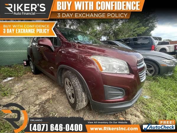 Photo $199mo - 2016 Chevrolet Trax LS - 100 Approved - $199 (7202 E Colonial Dr, Orlando FL, 32807)