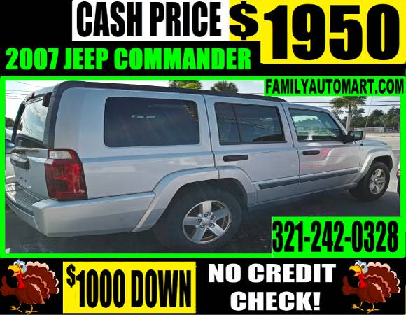 Photo 2007 JEEP COMMANDER - 3 ROW 7 PASSENGER LEATHER - $1,950 (20 VEHICLES PRICED UNDER $2000)