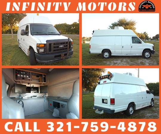 Photo 2011 Ford E-350 HIGHTOP VAN - MOBILE OFFICE - ONBOARD GENERATOR  AC - $17900 (cocoa)