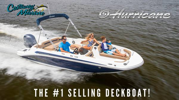 Photo 2021 Hurricane Deck Boats In Stock- Competitive Financing Available (CASTAWAYMARINE.com)