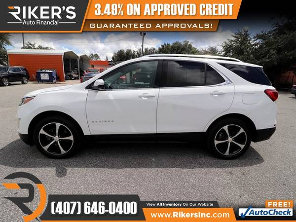 Photo $215mo - 2018 Chevrolet Equinox LT 2LT 2 LT 2-LT - 100 Approved - $215 (Rikers Auto Financial)