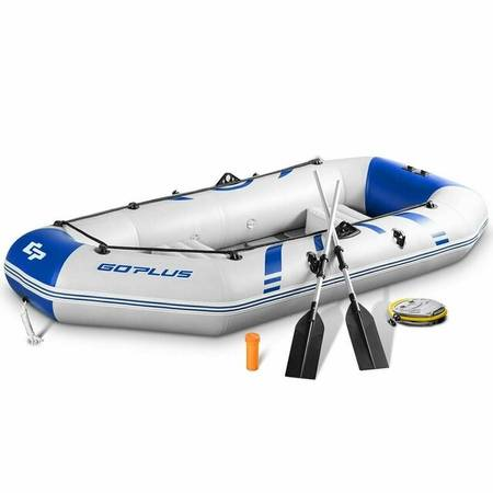 Photo 2-3 Person Inflatable Air Pump Fishing Boat With Oars - $120 (Merritt Island)