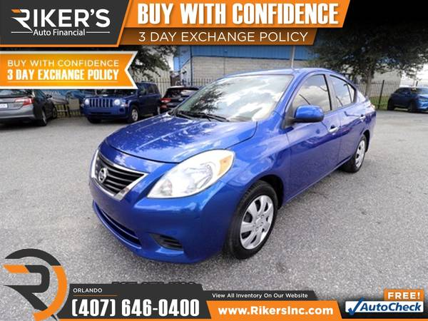 Photo $93mo - 2013 Nissan Versa 1.6 SV - 100 Approved - $93 (7202 E Colonial Dr, Orlando FL, 32807)