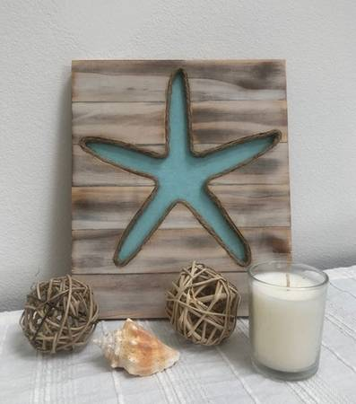 Photo Beach Art - Wooden Carved Starfish - $30 (Indian Harbour Beach)