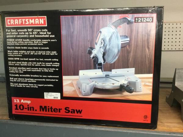 Photo Craftsman 10 13  Miter Saw Brand New - $120