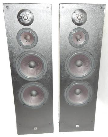 Photo JBL G500 vintage tower speakers with dual 8quot woofers - $179 (cocoa)