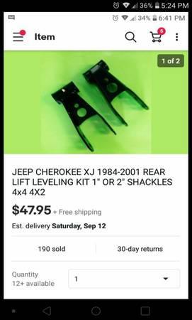 Photo Jeep Cherokee 2quot shackle lift - $25 (S.e. palm bay)