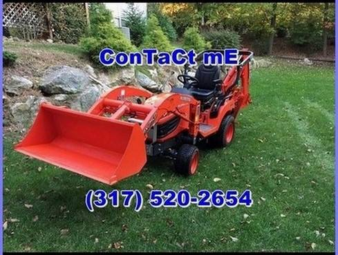Photo Kubota BX25D Tractor with Loader and Front Mount Snow Blower - - $1,000 ((South Burlington))