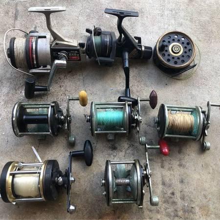 Photo LOT of Vintage Fishing Reels-Penn, Tidewater, Ryobi, Shimano,  Shakes - $90 (Merritt Island)