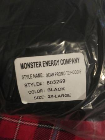Photo New 2xl monster zip up hoodie - $50 (S.e. palm bay)