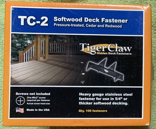 Photo Tiger Claw TC-2 Hidden Deck Fasteners - $30 (Titusville)