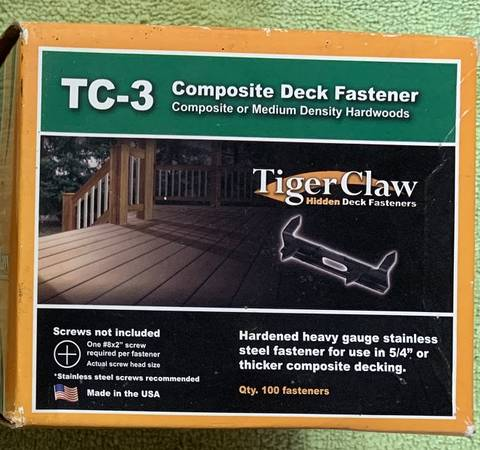 Photo Tiger Claw TC-3 Hidden Deck Fasteners - $30 (Titusville)