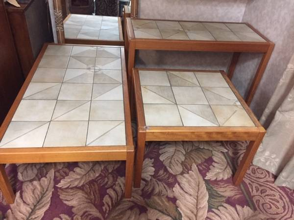 Photo Vintage Mid-Century Danish Modern Gangso Coffee, Sofa, End Tables - $299 (All Around the House)