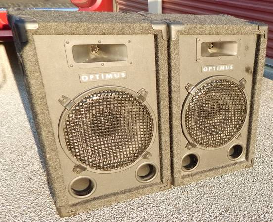 Photo pair 12quot 2 way realistic pa band dj speakers - $80 (cocoa)