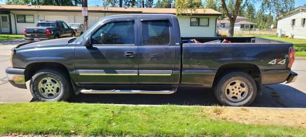 Photo 2004 Chevy Silverado 1500 4x4 - $7,000 (Spokane)