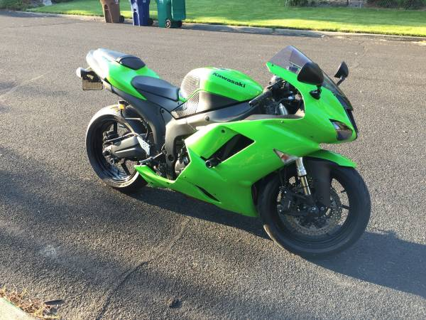 Photo 2007 Kawasaki Zx6r Ninja - trades considered - $4,800 (Spokane)