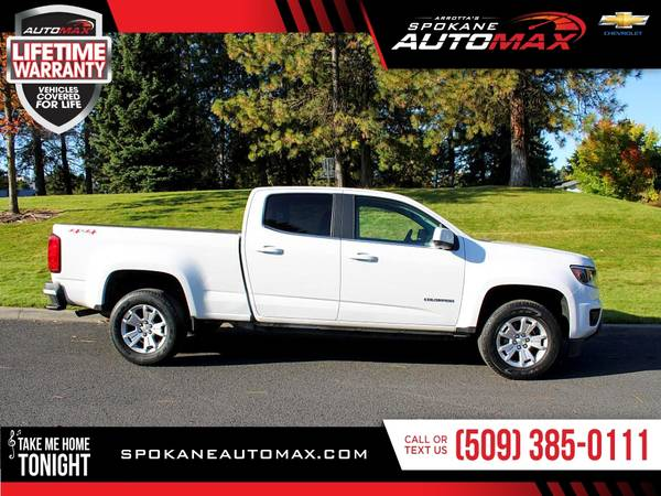 Photo 2016 Chevrolet Colorado 4WD 4 WD 4-WD LT Pickup for ONLY $34 - $26999 (Spokane Automax)