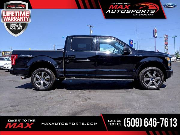 Photo 2016 Ford F150 F 150 F-150 XLT SPORT PACKAGE  Pickup 87, - $37,980 (Max Autosports of Spokane)