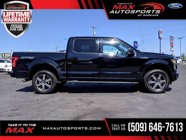 Photo 2016 Ford F150 F 150 F-150 XLT SPORT PACKAGE  $509 mo - - $37,530 (Max Autosports of Spokane)