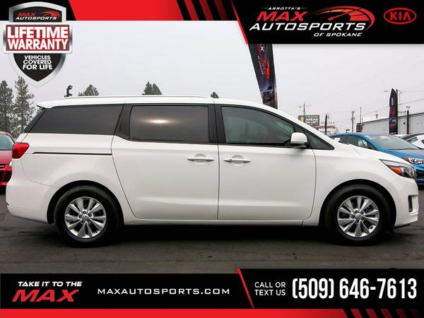 Photo 2017 KIA Sedona $229 mo LIFETIME WARRANTY - $16,980 (Max Autosports of Spokane)