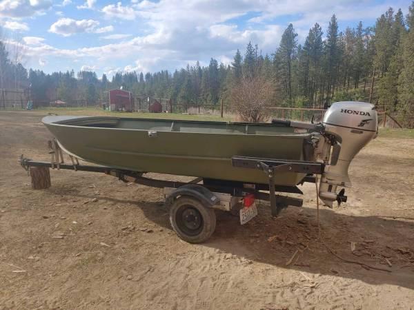Photo Boat, Motor, and Trailer for Sale - $3,800 (Spokane)