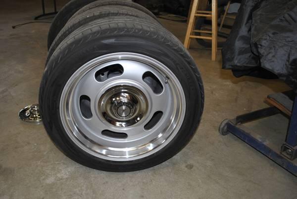 Photo Chevy 18 inch aluminum rally wheels and tires - $1,000 (spokane)