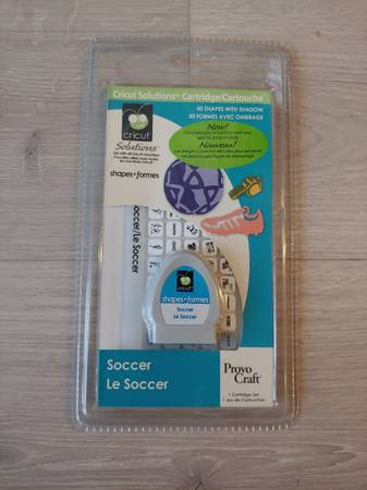 Photo Cricut NEW Soccer Cartridge Retired - $30 (Coeur d39 Alene)