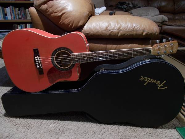 Photo Fender T-Bucket 400 CE Flame Maple Acoustic Electric - $300 (Post Falls)