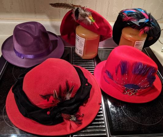 Photo HATS, Red hat club, Costume, Etc (Otis Orchards. WA)