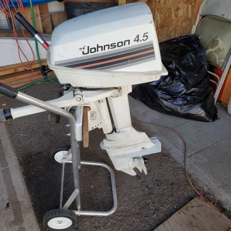 Photo Johnson outboard 4.5 hp 2 cycle - $450 (North Spokane)