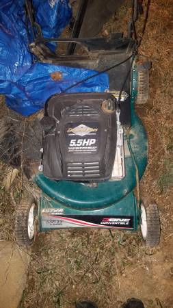 Photo Lawn mower, pressure tank, stove all free come and take it all (Deer parkeloika lake area)